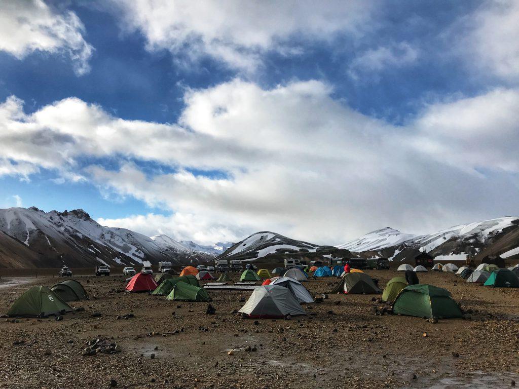 Iceland Landmannalaugar basecamp