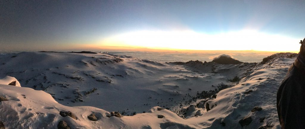 View from Stella Point on Mount Kilimanjaro